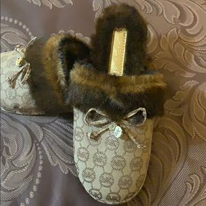 Brand New Michael Kors Fur Slippers